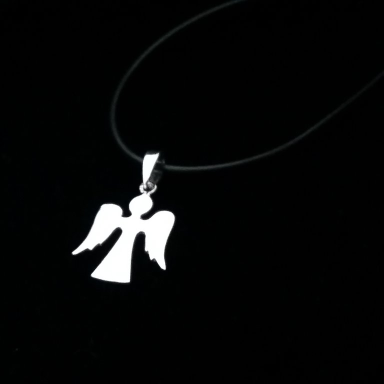 Sterling Silver Pendant Angel Liso