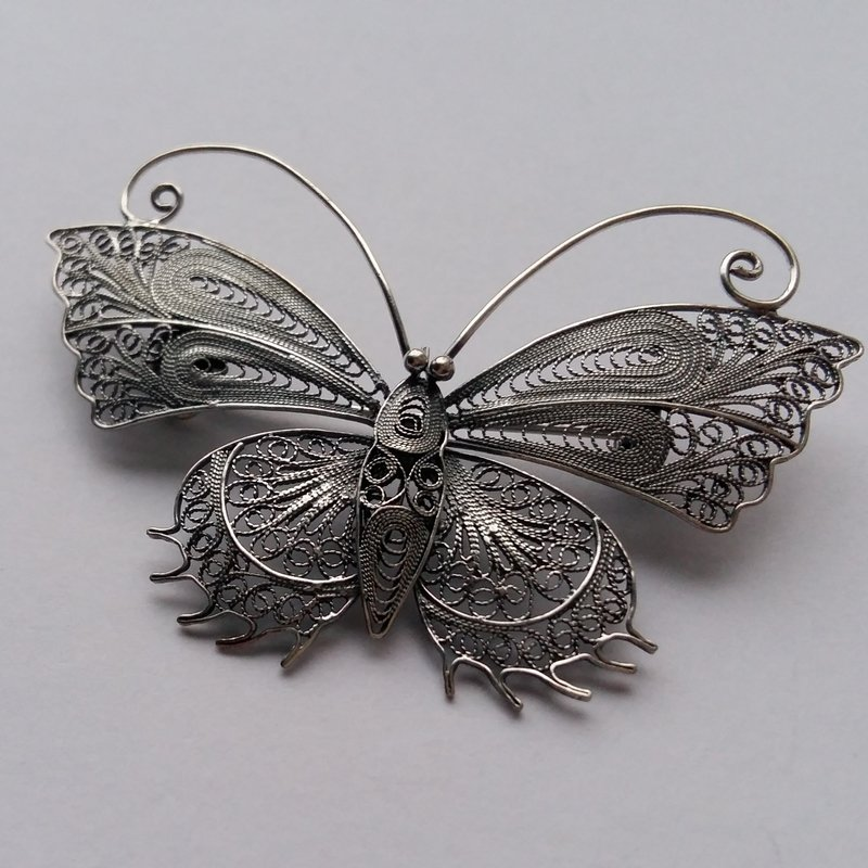 Filigree Brooch Mariposa Filigrana