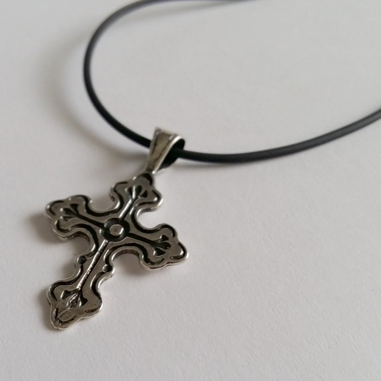 Sterling Silver Cross Pendant Cruz de Fe