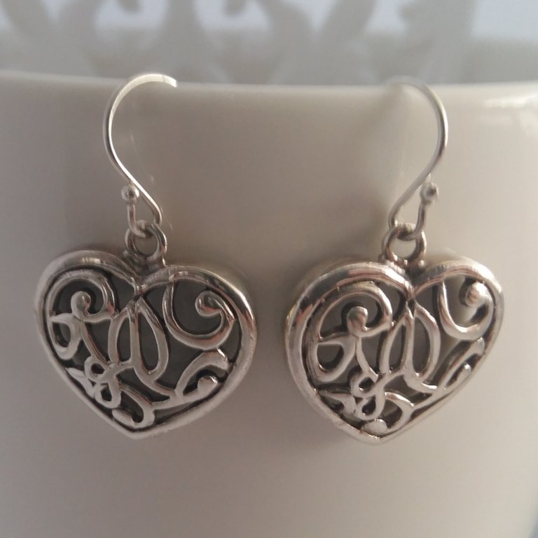 Silver Earrings Corazon Enamorado
