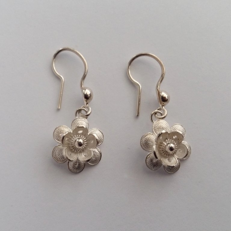 Filigree Earrings Flor de Amanecer