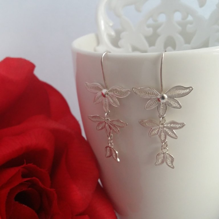 Filigree Earrings Floreciendo