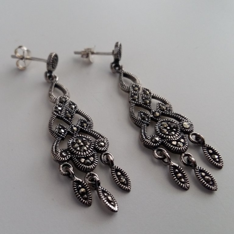 Marcasite Earrings Letizia