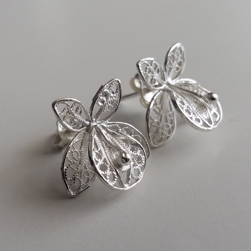 Filigree Earrings Orquideas Chicas