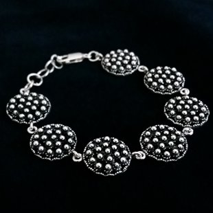 Silver Bracelet with Charro Element Charro Estilizado