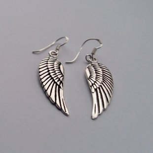 Silver Earrings Angel Wings