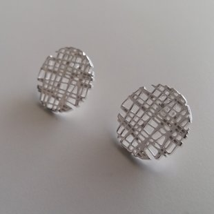 Silver Earrings Botones