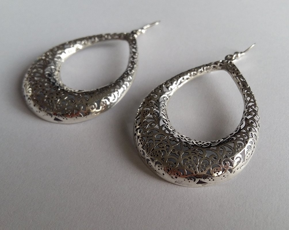 Big Silver Earrings Raquel