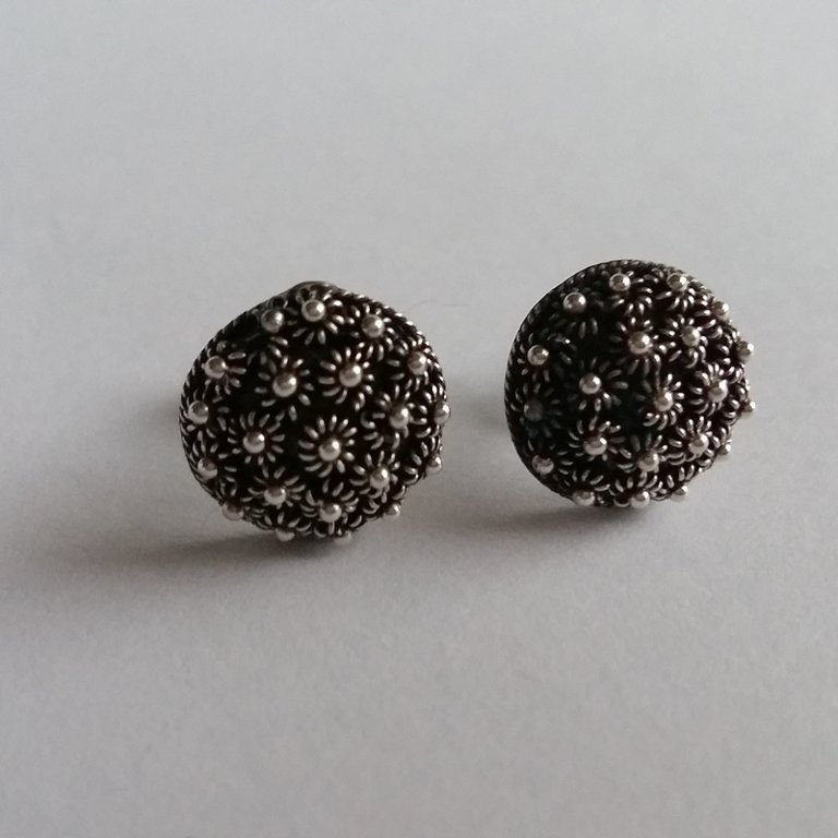 Earrings with Charro Element Roseton Oscuro Corto