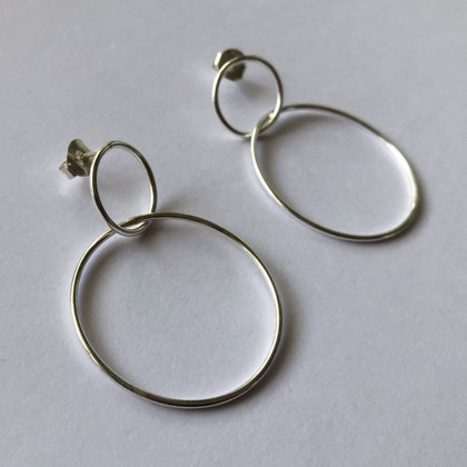 Large Karma Hoop Earrings