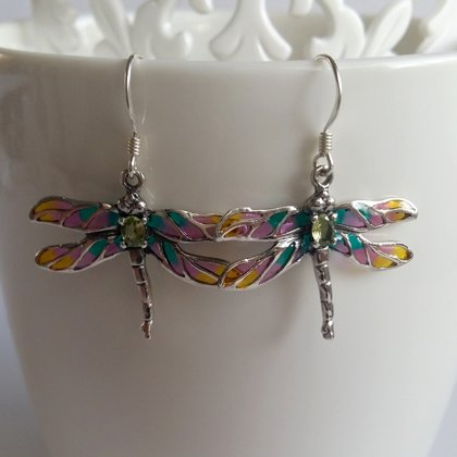 Dragonfly Earrings Libelula Naranja