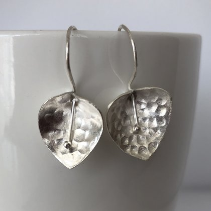 Silver Earrings Calla