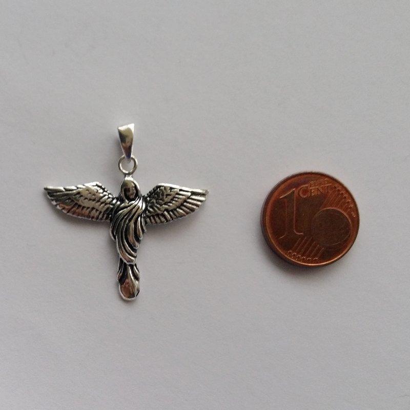 Silver Angel Pendant Angel Virgen