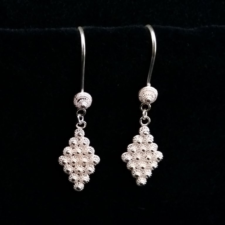 Earrings with Charro Element Rombo