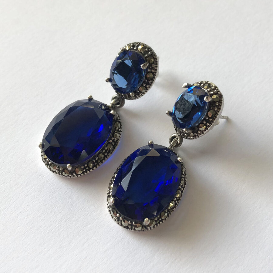 Blue Earrings Alba