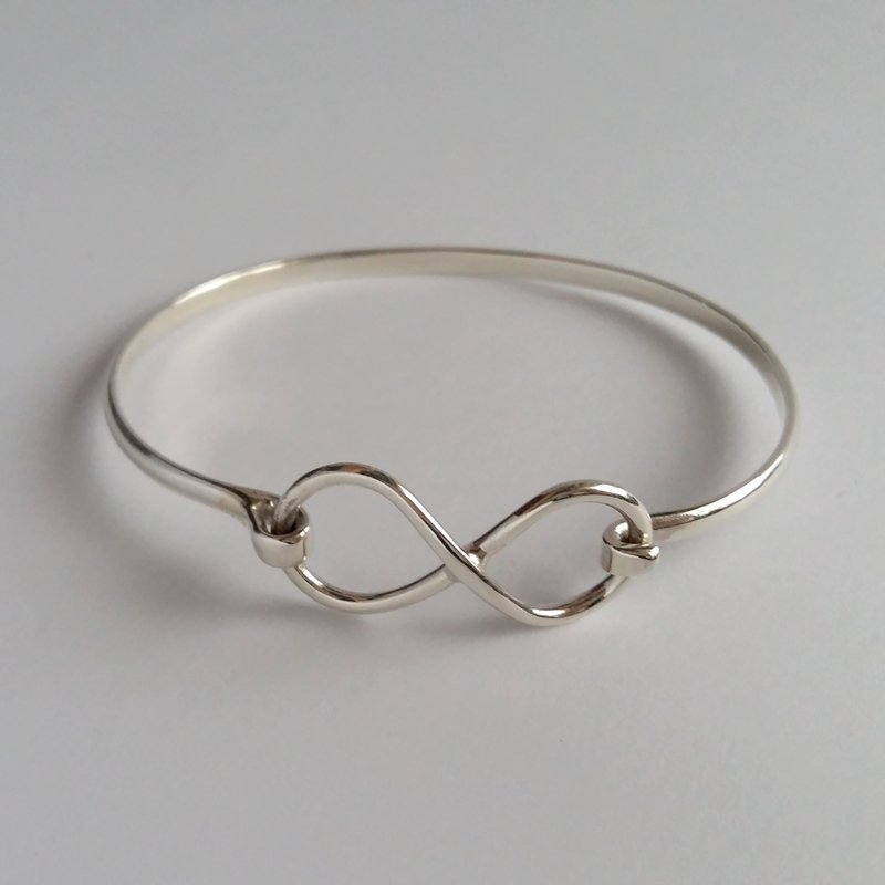 Silver Bangle Bracelet Infinito Grande