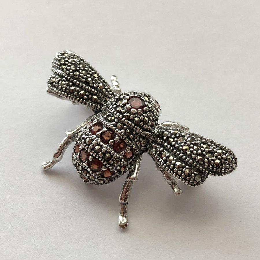 Marcasite Bumblebee Brooch Abeja