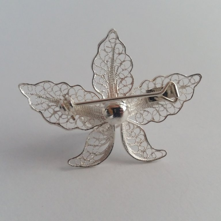 Filigree Brooch Orchid