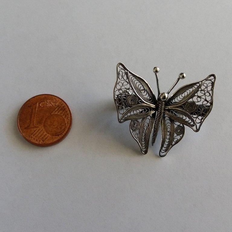 Filigree Brooch Mariposa