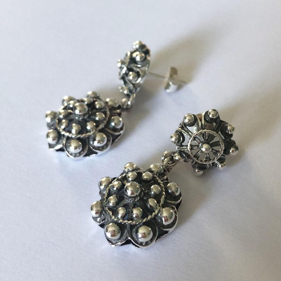 Silver Earrings Charro Doble