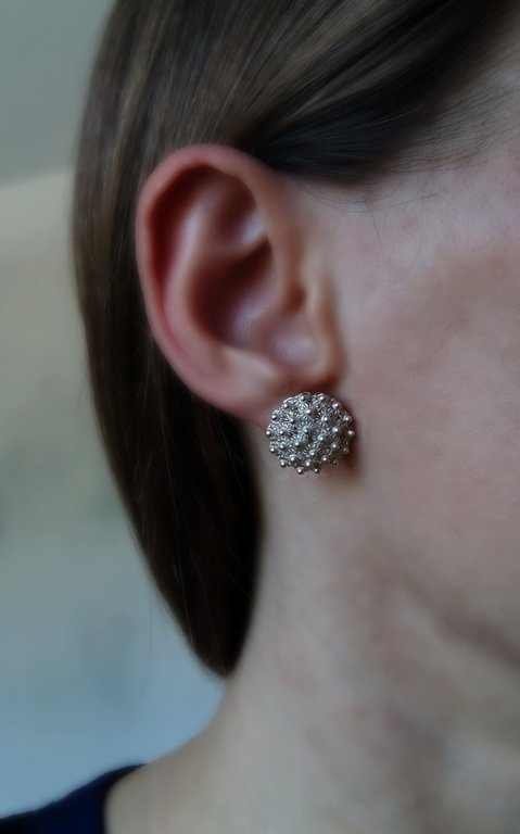 Earrings with Charro Element Roseton Claro