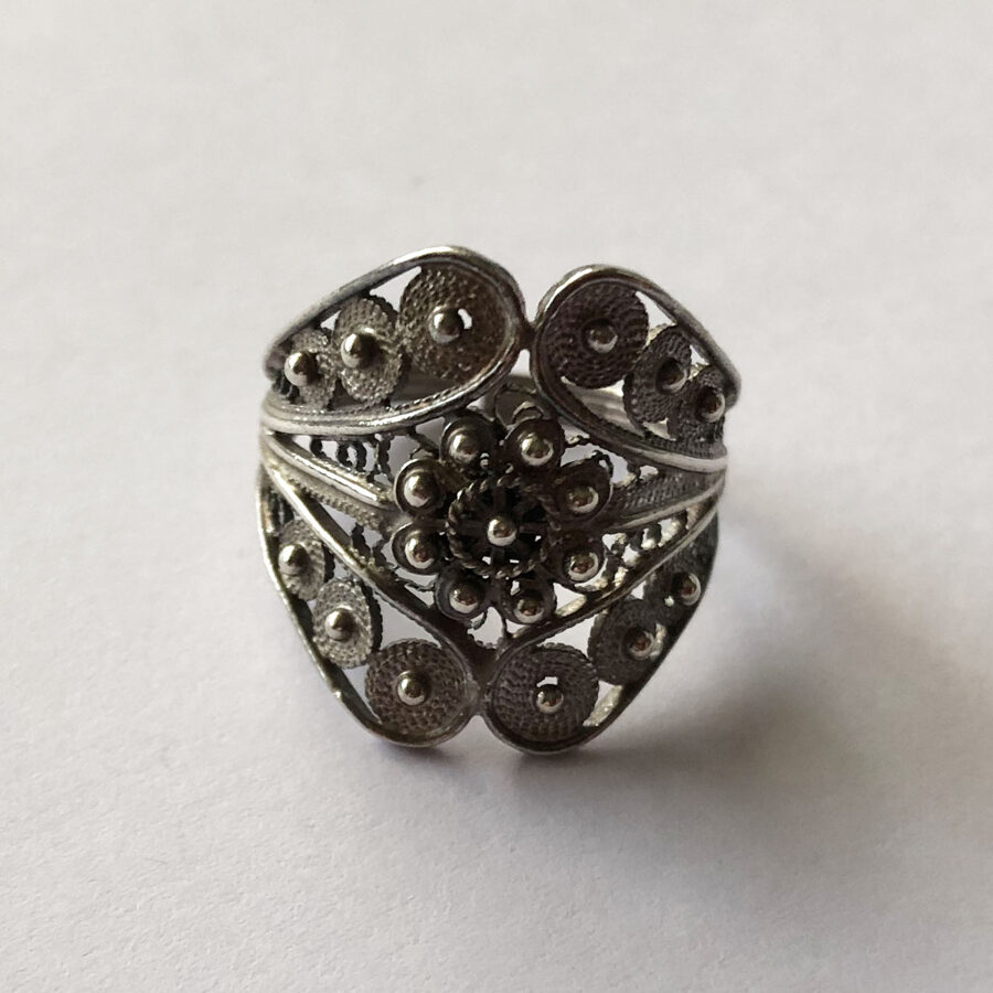 Sterling Silver Ring Charro Filigrana