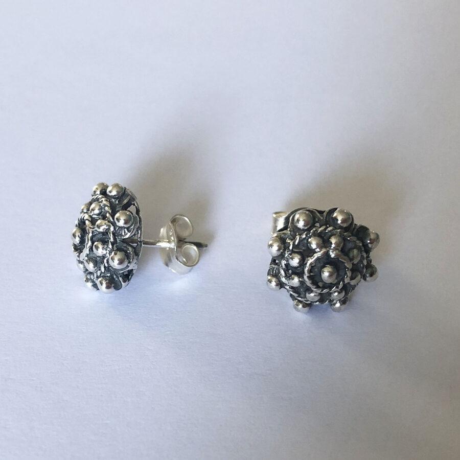 Silver Earrings Charro Mediano