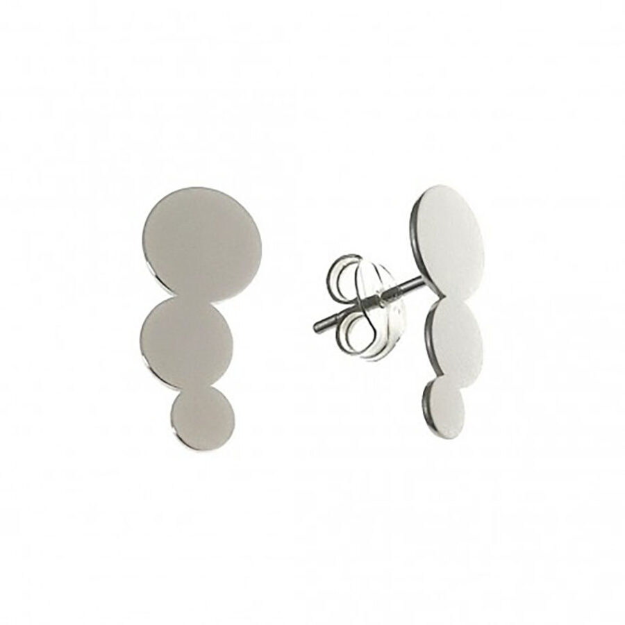 Silver Climber Earrings Trepador Disco