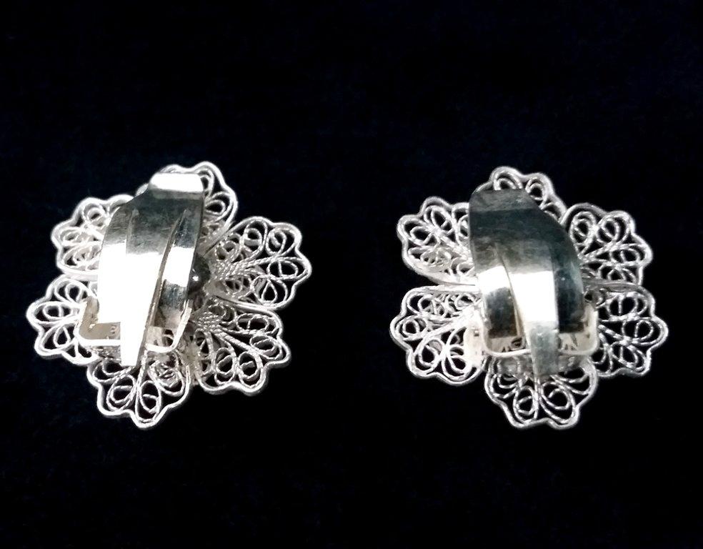 Clip On Earrings Flor Filigrana