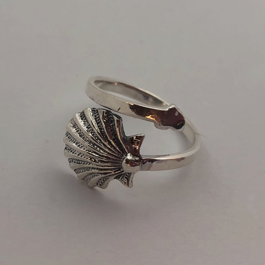 Silver Shell Ring Concha
