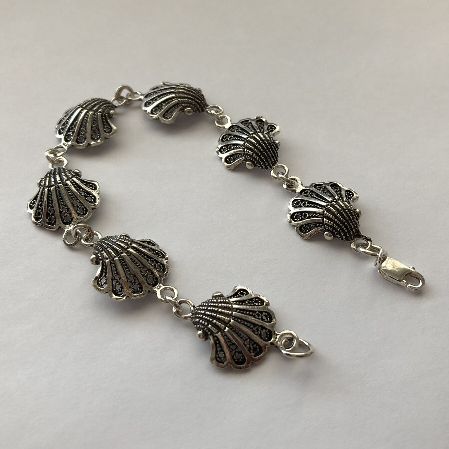 Silver Shell Bracelet Las Conchas II