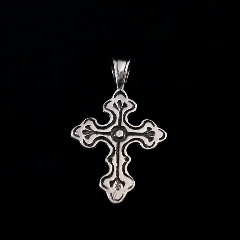 Sterling Silver Cross Pendant Cruz de Fe