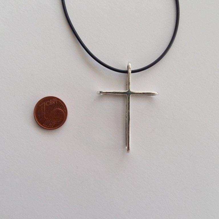 Silver Cross Pendant Cruz Doble