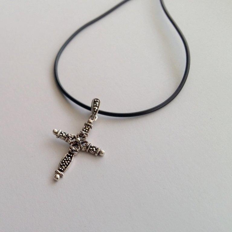 Marcasite Cross Pendant Cruz Marcasita
