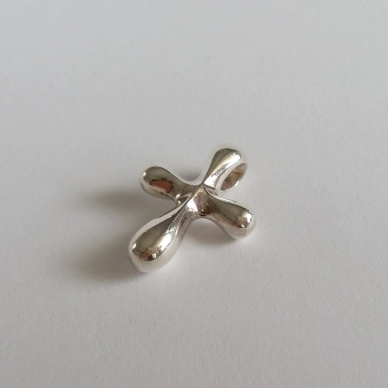 Sterling Silver Cross Pendant Cruz Redonda