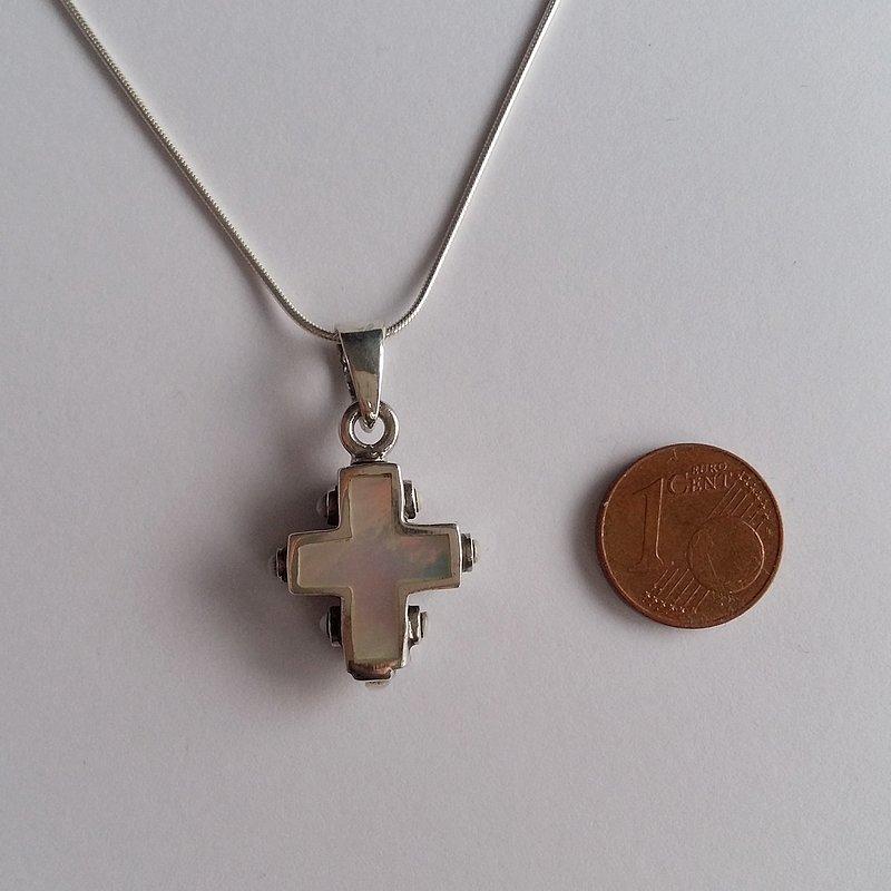 Nacre Cross Pendant