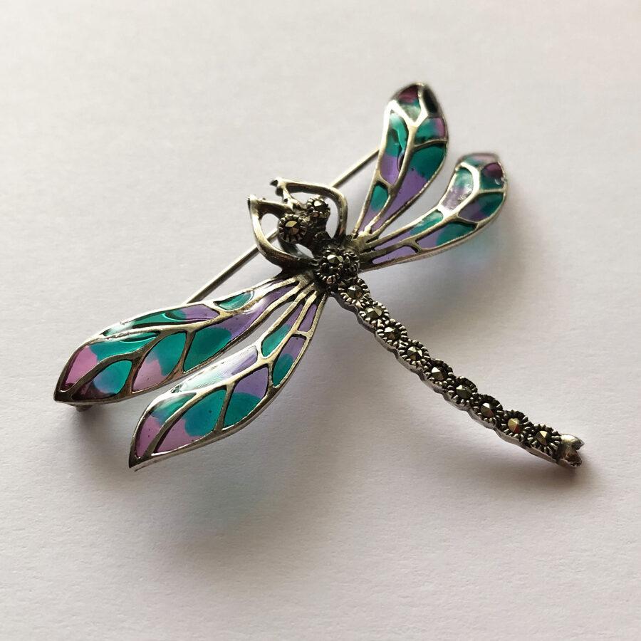 Silver Dragonfly Brooch Libelula Campoamor