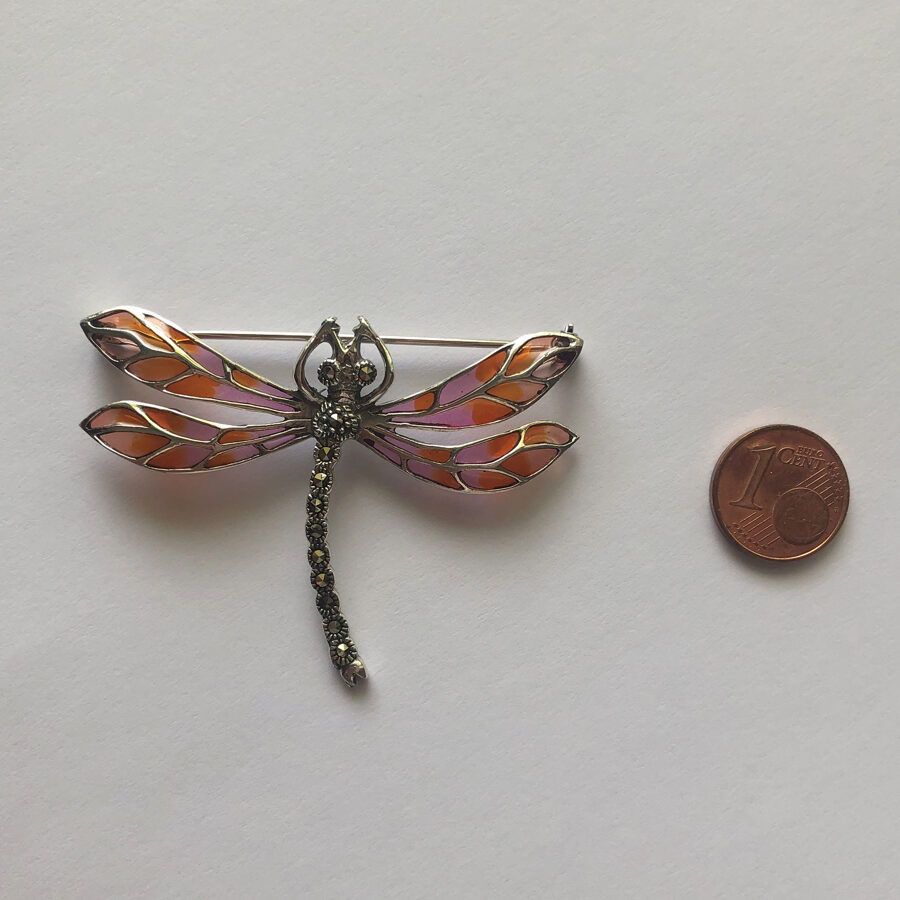 Dragonfly Brooch Libelula Violeta
