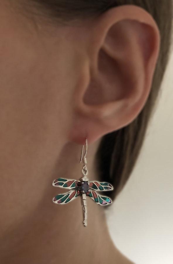 Dragonfly Earrings Libelula Campoamor