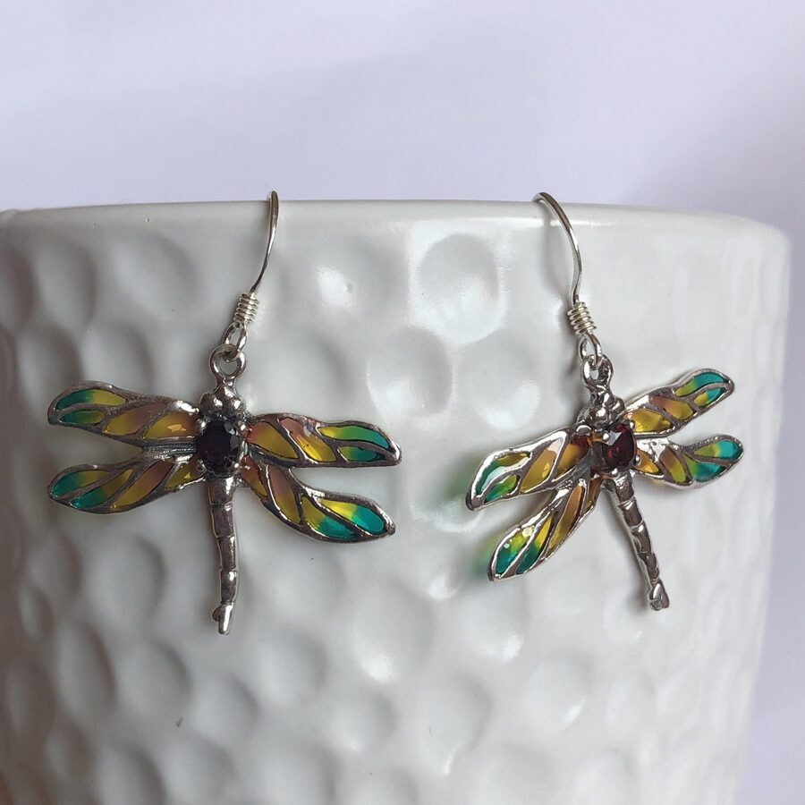 Dragonfly Earrings Libelula Melocoton