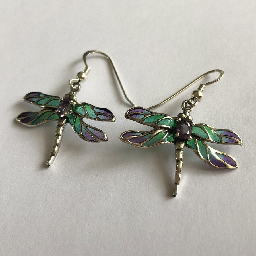 Dragonfly Earrings Libelula Morao