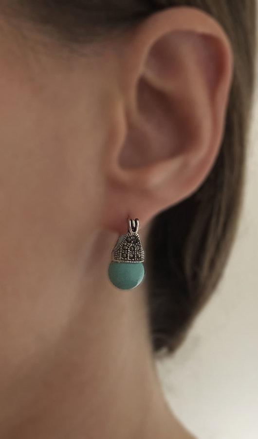Marcasite Earrings Lady D Turquesa