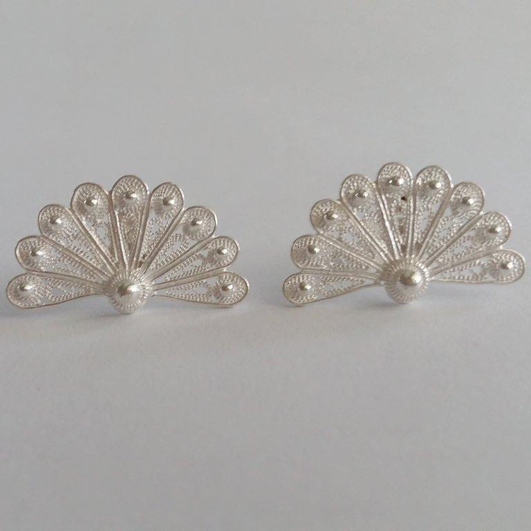 Filigree Earrings Abanico Blanco