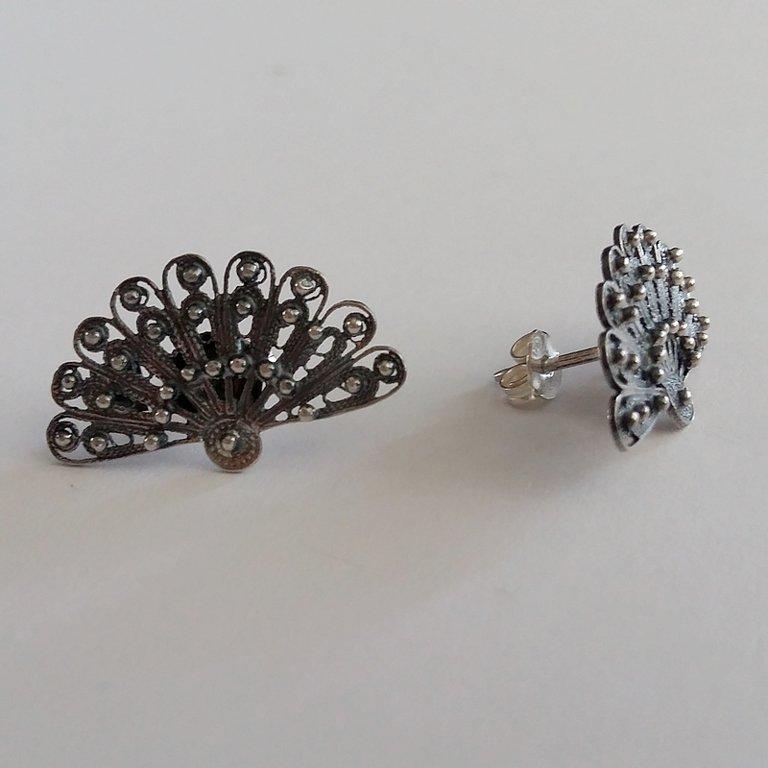 Filigree Earrings Abanico Oscuro