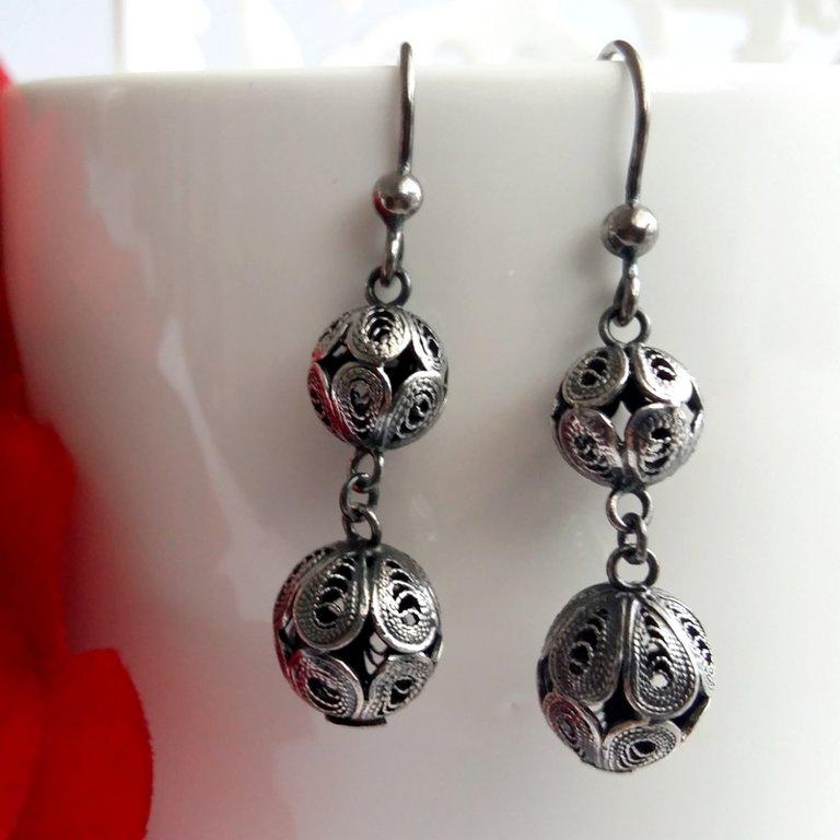 Filigree Earrings Almeria, dark