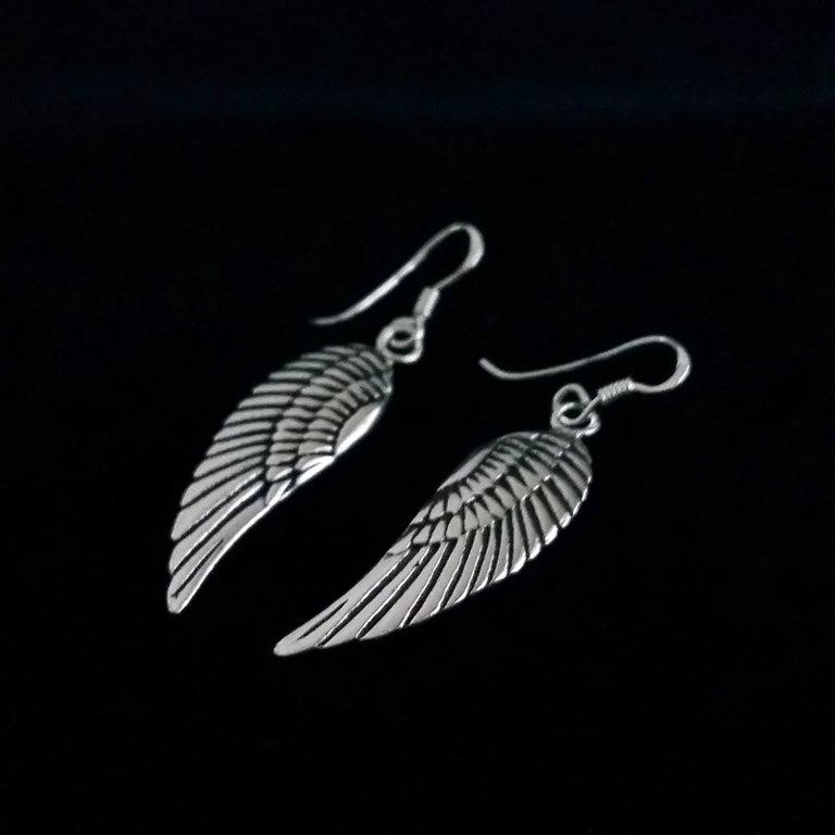 Silver Earrings Angel Wings