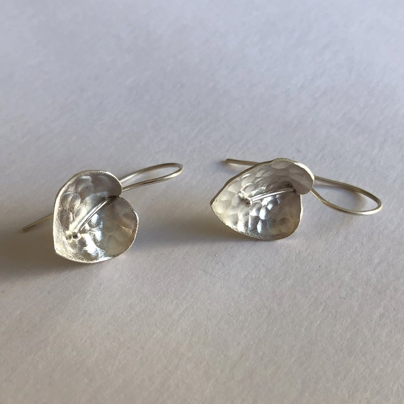 Silver Earrings Calla