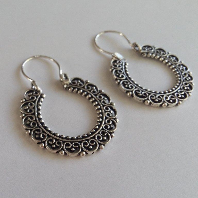 Silver Earrings Carmen With Oriental Look Mosa