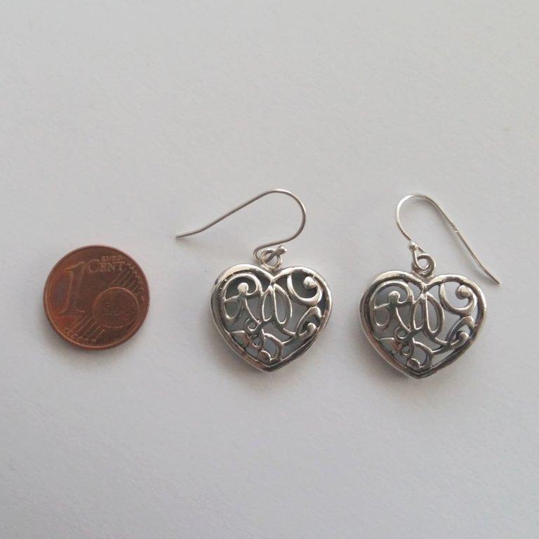 Silver Earrings Corazon