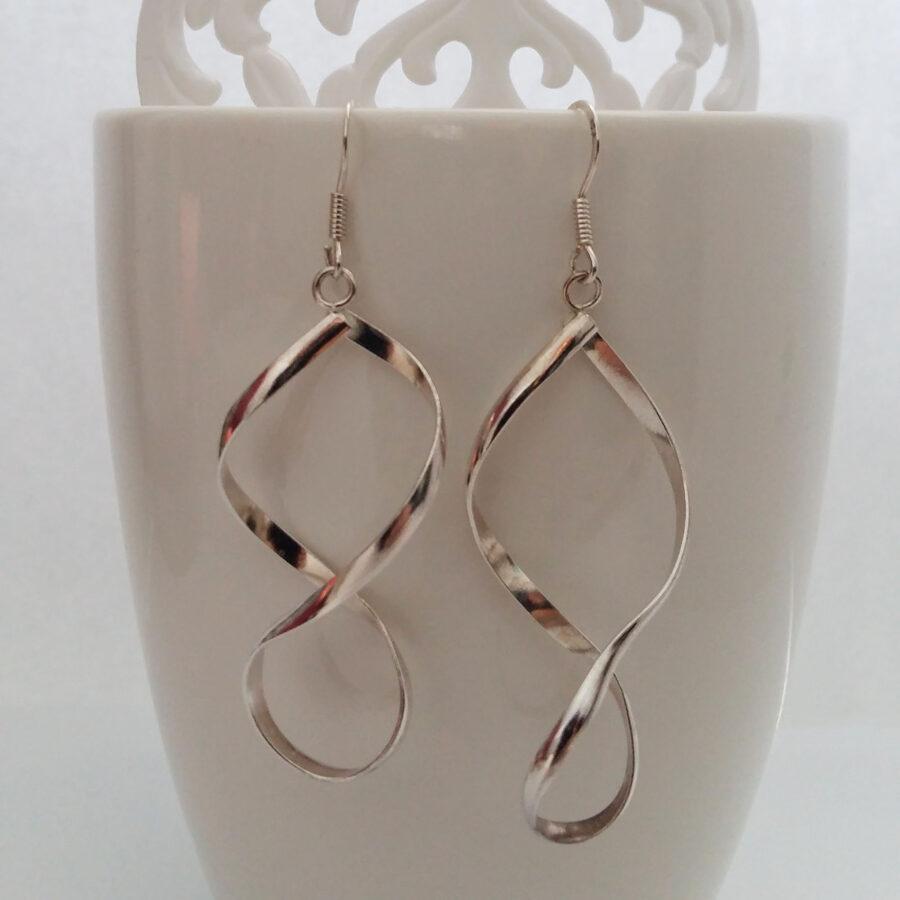 Silver Earrings Infinito